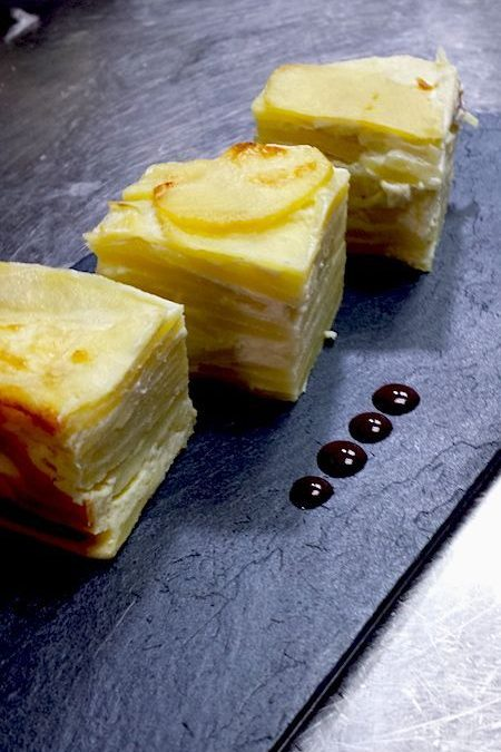 Pastel milhoja de patata
