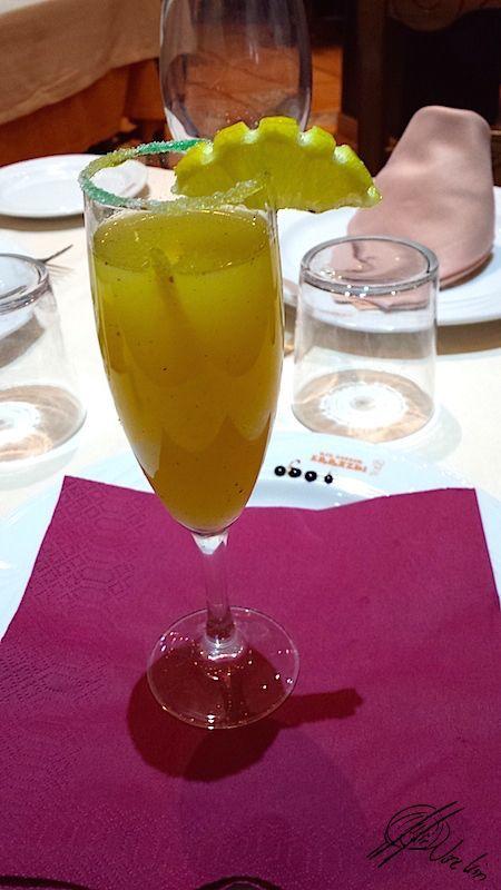Limonada de pera y jengibre