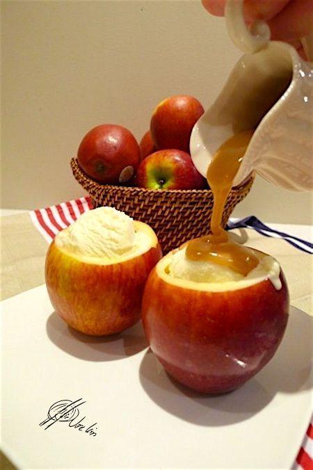 helado de manzana