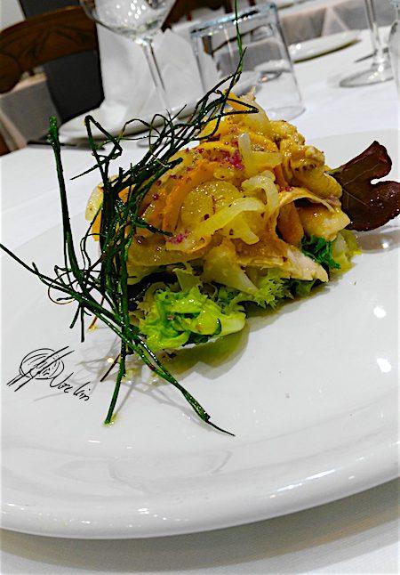 Ensalada de pollo Lumagorri en escabeche de naranja