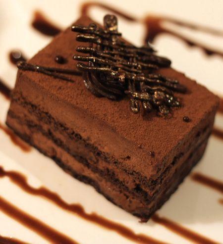 Queque de chocolate con café y dulce de leche