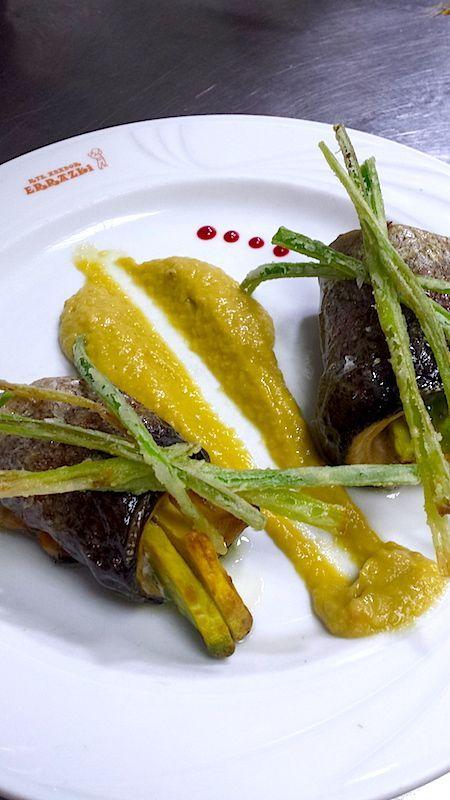 Trucha con guacamole de mango