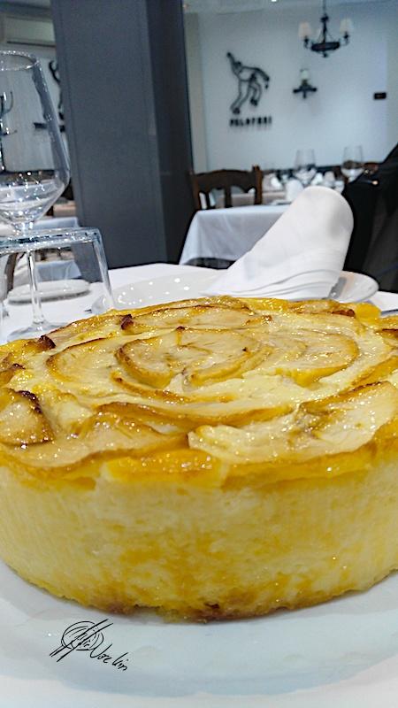 Bavarois de manzana y yogur griego