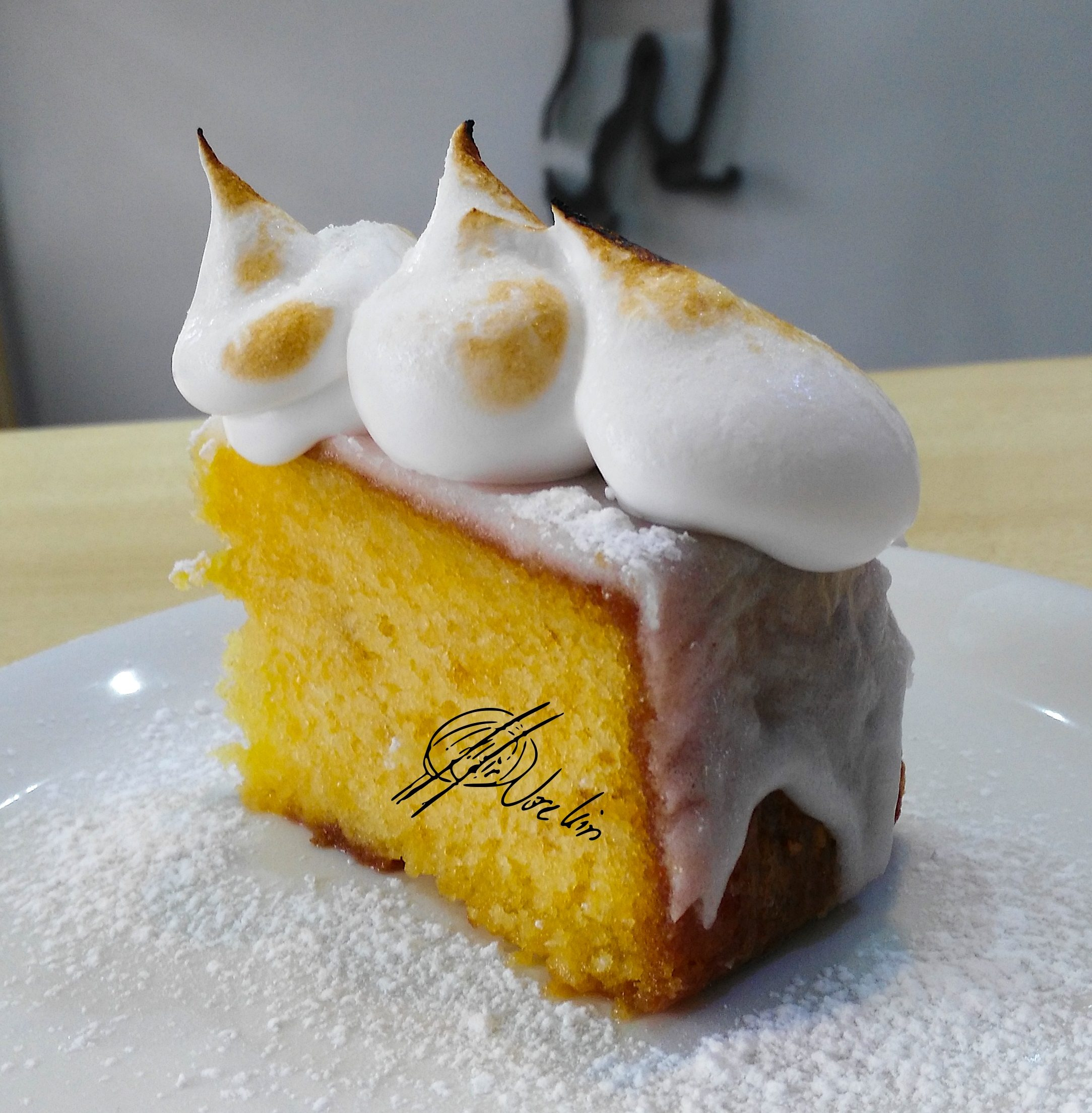 Queque de limón con merengue