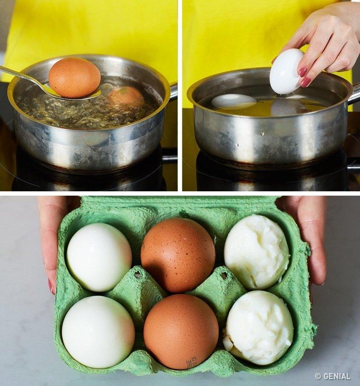 Quitar la cáscara a los huevos perfectamente